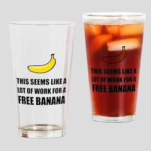 Free Banana Drinking Glass