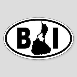 Block Island MAP Oval Sticker