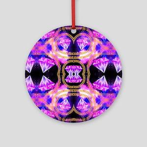 gem galaxy Round Ornament