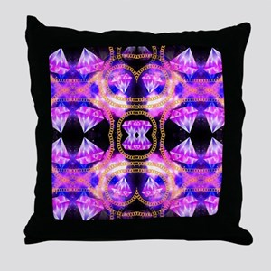 gem galaxy Throw Pillow