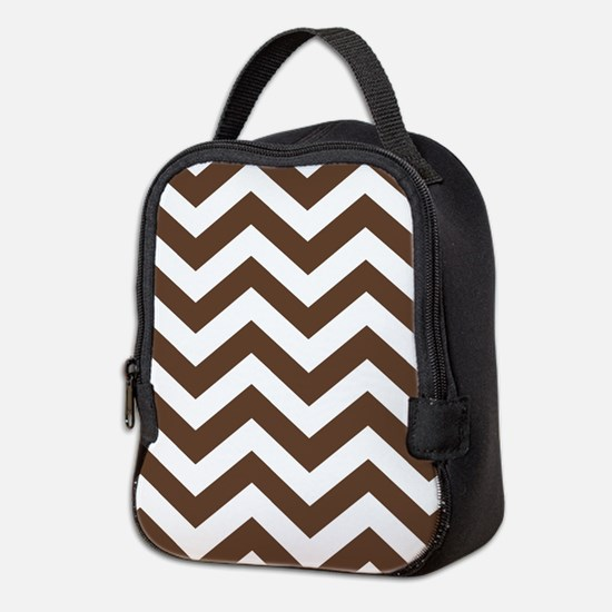 Chevron Zig Zag Pattern: Chocol Neoprene Lunch Bag