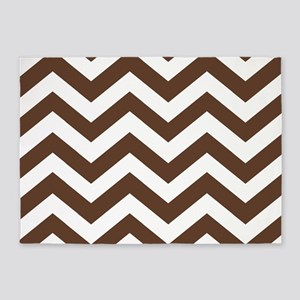 Chevron Zig Zag Pattern: Chocolate 5'x7'Area Rug