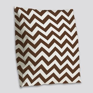 Chevron Zig Zag Pattern: Choco Burlap Throw Pillow