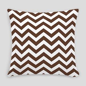 Chevron Zig Zag Pattern: Chocolate Everyday Pillow