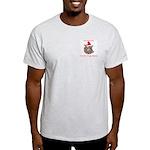 Christmas Devil Dog Style Light T-Shirt