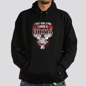 Veteran DD214 Shirt Hoodie (dark)