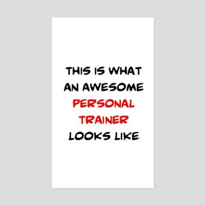 awesome personal trainer Sticker (Rectangle)