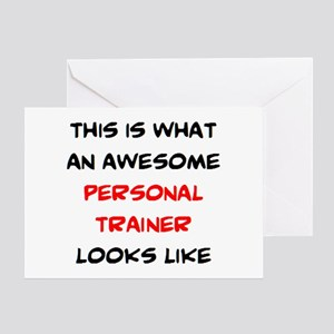 Fitness trainer greeting cards cafepress awesome personal trainer greeting card m4hsunfo