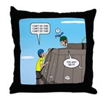 Building Confidence Throw Pillow