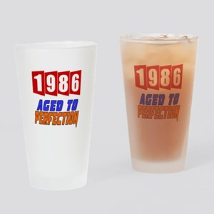 1986 Aged To Perfection Drinking Glass
