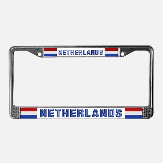 """""""Netherlands Flag"""" License Plate Frame"""