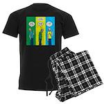 Flu Shot Men's Dark Pajamas