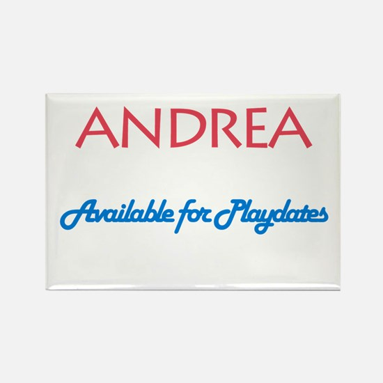 Andrea - Available For Playda Rectangle Magnet (10