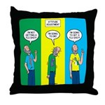 Flu Shot Throw Pillow
