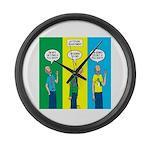 Flu Shot Large Wall Clock