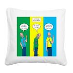 Flu Shot Square Canvas Pillow