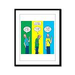 Flu Shot Framed Panel Print