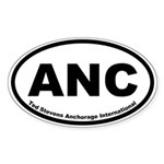 Ted Stevens Anchorage International Oval Sticker