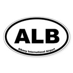 Albany International Airport Oval Sticker