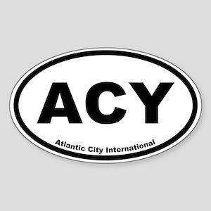 Atlantic City International Oval Sticker