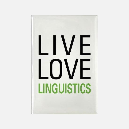 Live Love Linguistics Rectangle Magnet