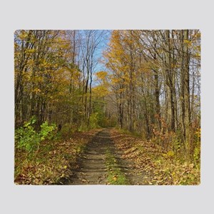 Hiking Trail In Autumn Throw Blanket