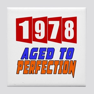 1978 Aged To Perfection Tile Coaster