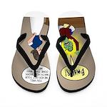 Zombie Homework Flip Flops