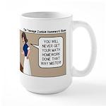 Zombie Homework Large Mug