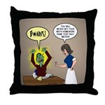 Zombie Homework Throw Pillow