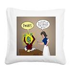 Zombie Homework Square Canvas Pillow