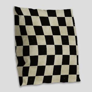 Cartoon Racecars Burlap Throw Pillow