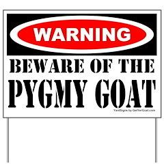 Beware Pygmy Goat Yard Sign