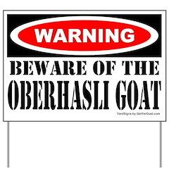 Beware Oberhasli Goat Yard Sign