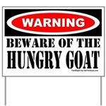 Beware Hungry Goat Yard Sign