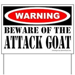 Beware Attack Goat Yard Sign
