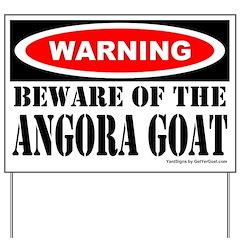 Beware Angora Goat Yard Sign
