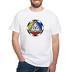 Space Vortex Alchemy White T-Shirt