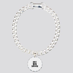Don't Mess With Sweden Charm Bracelet, One Charm