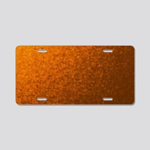 modern pattern of small col Aluminum License Plate