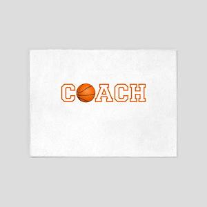 Basketball Coach 5'x7'Area Rug