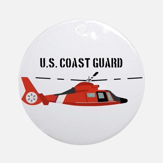 US Coast Guard Round Ornament