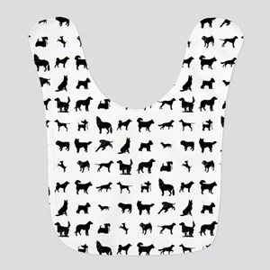 DOGS, DOGS, EVERYWHERE Polyester Baby Bib