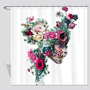 Skull VII Shower Curtain