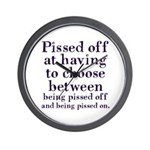 Pissed Off Wall Clock