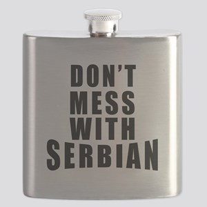 Don't Mess With Serbia Flask