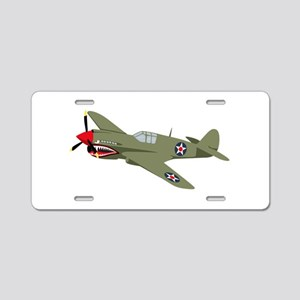 WWII Fighter Aluminum License Plate