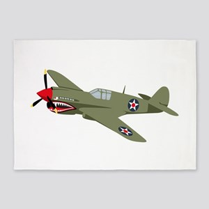 WWII Fighter 5'x7'Area Rug