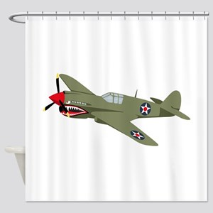 WWII Fighter Shower Curtain