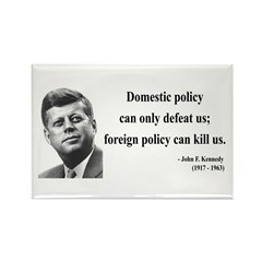 John F. Kennedy 12 Rectangle Magnet (10 pack)
